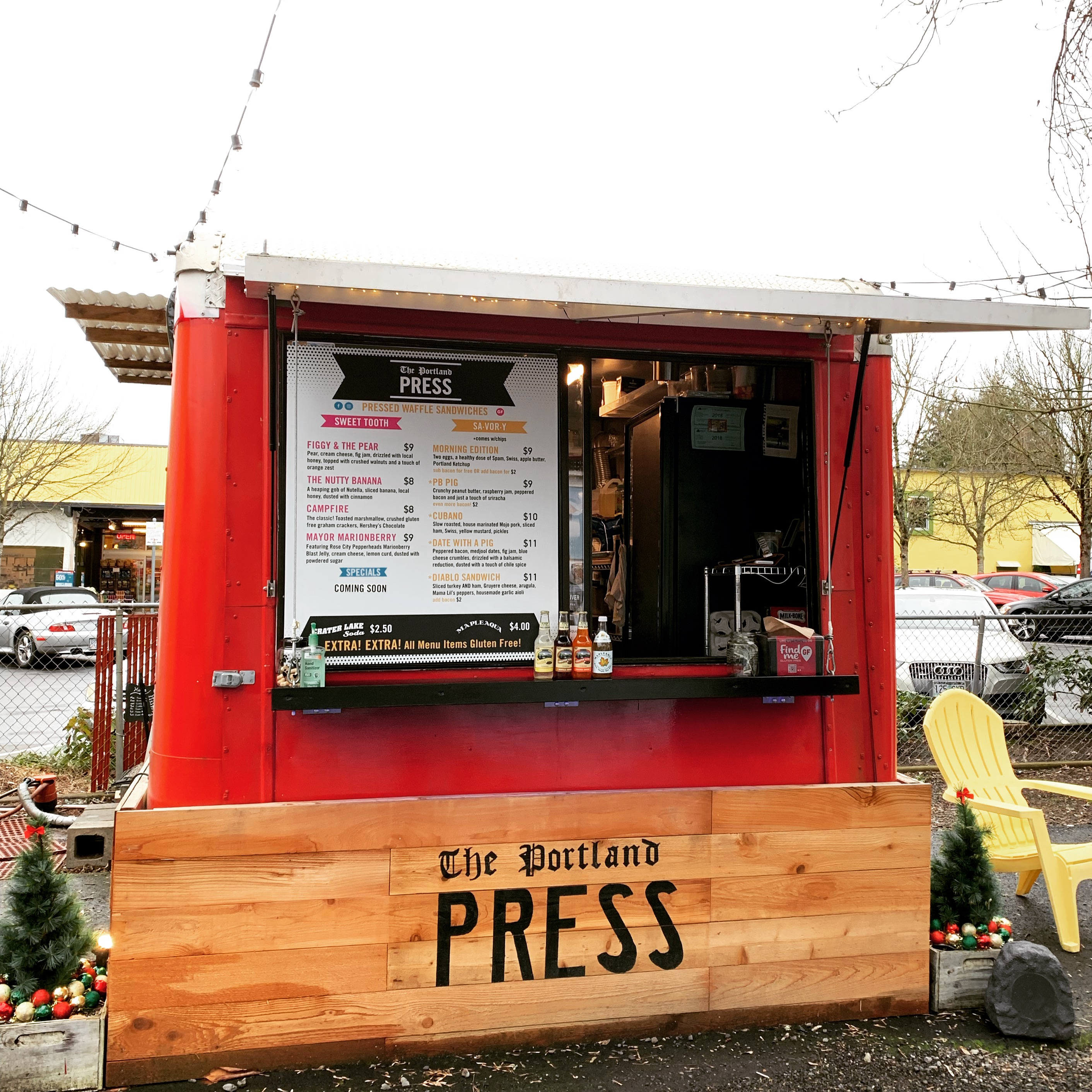 The Portland Press Food Cart - Culinary Treasure by Steven Shomler