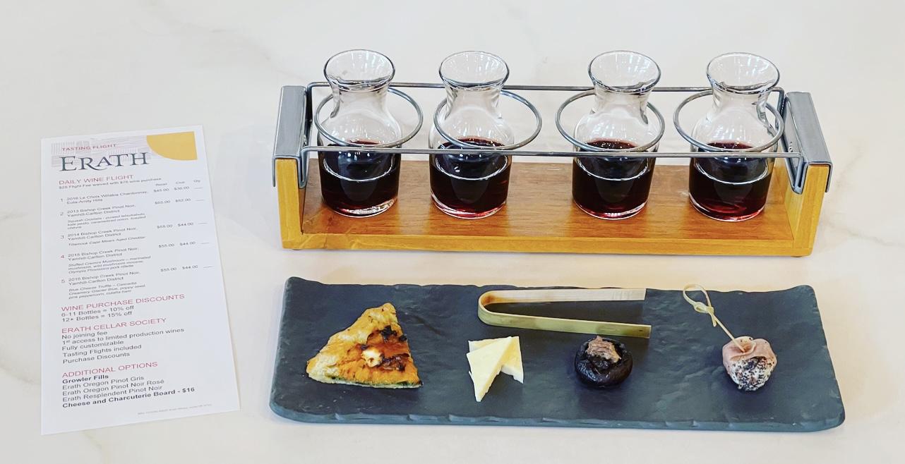 4 Year Single Vineyard Pinot Noir Vertical & 4 Amazing Bites! Erath Tasting Room Spring Wine Flight Portland, Oregon by Steven Shomler This is Culinary Treasure Culinary Treasure Network